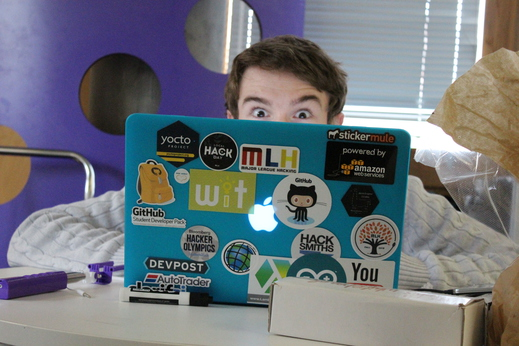 Rich and his stickers!