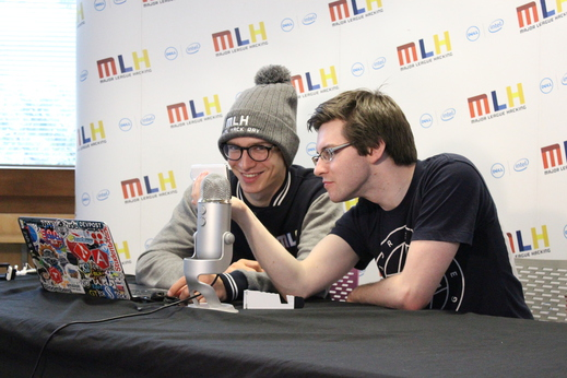 Tim and Gregor from MLH doing the live stream!